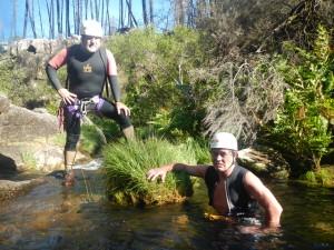 Revisando o río da Cal en xuño de 2014